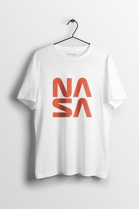 Apex Moda Nasa Square Beyaz Baskılı Tişört