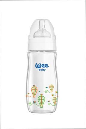 Wee Baby Klasik Plus Geniş Ağızlı Isıya Dayanıklı Cam Biberon 280 ml - Beyaz