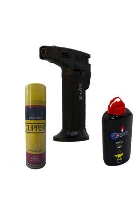 X-Lite Xlite 1300 C Büyük Boy Masa Tipi Pürmüz Alev Çakmak Mangal Yak Ve Clipper Butone Gaz