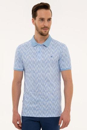 Pierre Cardin Erkek Açık Mavi Slim Fit Polo Yaka T-Shirt