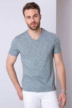 Pierre Cardin Erkek Koyu Yeşil Slim Fit T-Shirt