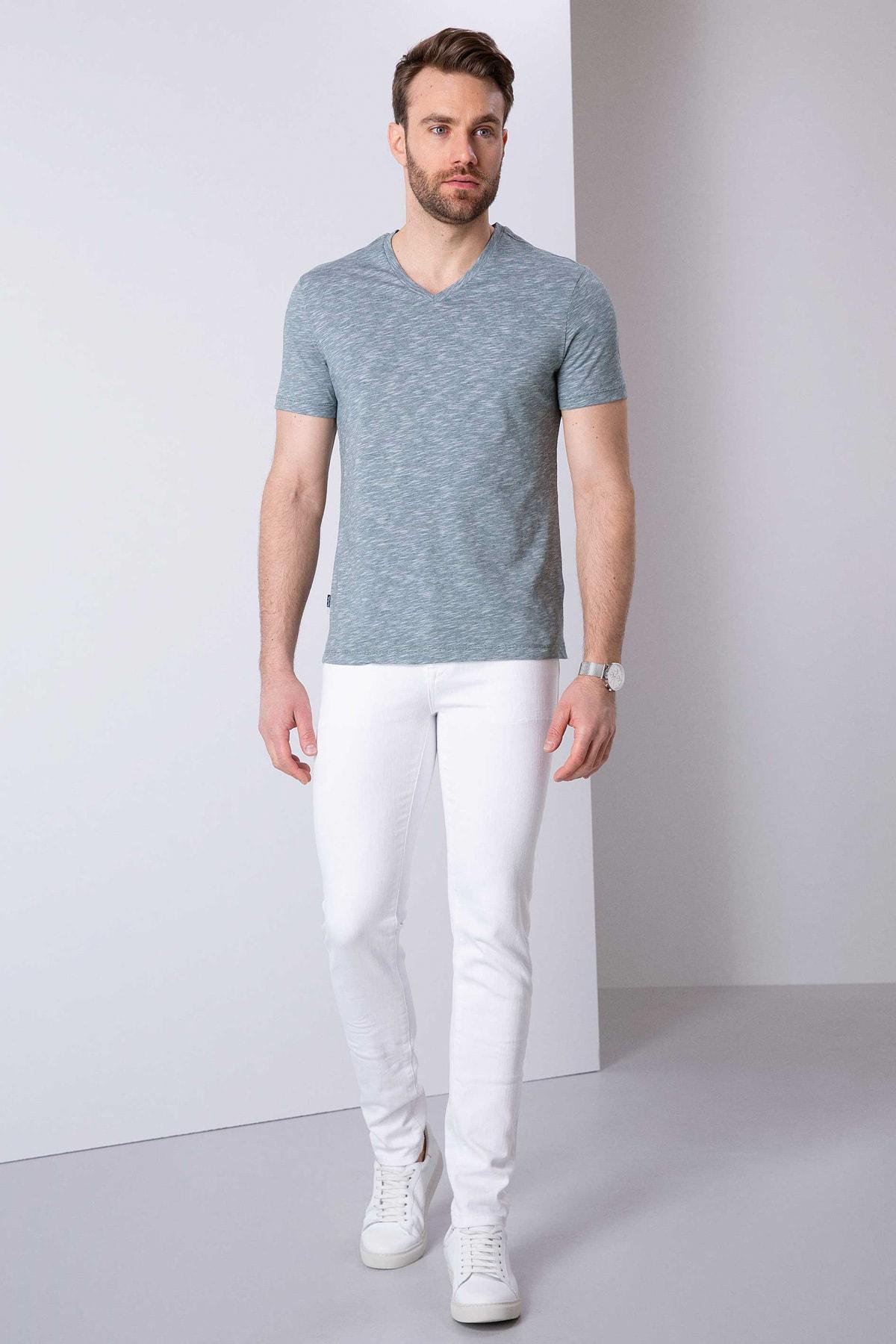 Pierre Cardin Erkek Koyu Yeşil Slim Fit T-Shirt 2