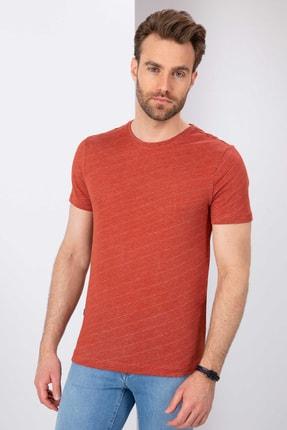 Pierre Cardin Kiremit Slim Fit Bisiklet Yaka T-Shirt