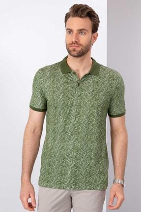 Pierre Cardin Erkek Yeşil Slim Fit T-Shirt
