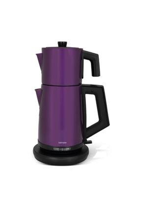 GOLDMASTER Teachef Violet In-6302v Çelik Çay Makinesi & Kettle