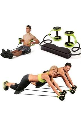 multi contact Revoflex Xtreme Pro Tekerlekli Egzersiz Spor Aleti Lastikli Karın Kası Göbek Eritme Tekerleği
