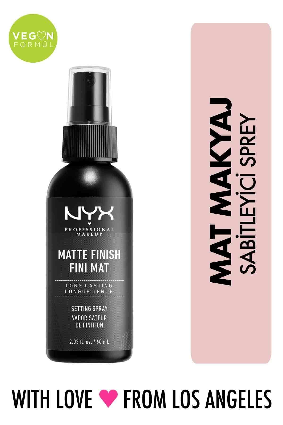 NYX Professional Makeup Mat Görünüm Veren Makyaj Sabitleyici Sprey - Makeup Setting Spray Matte 79 g 800897813710 1