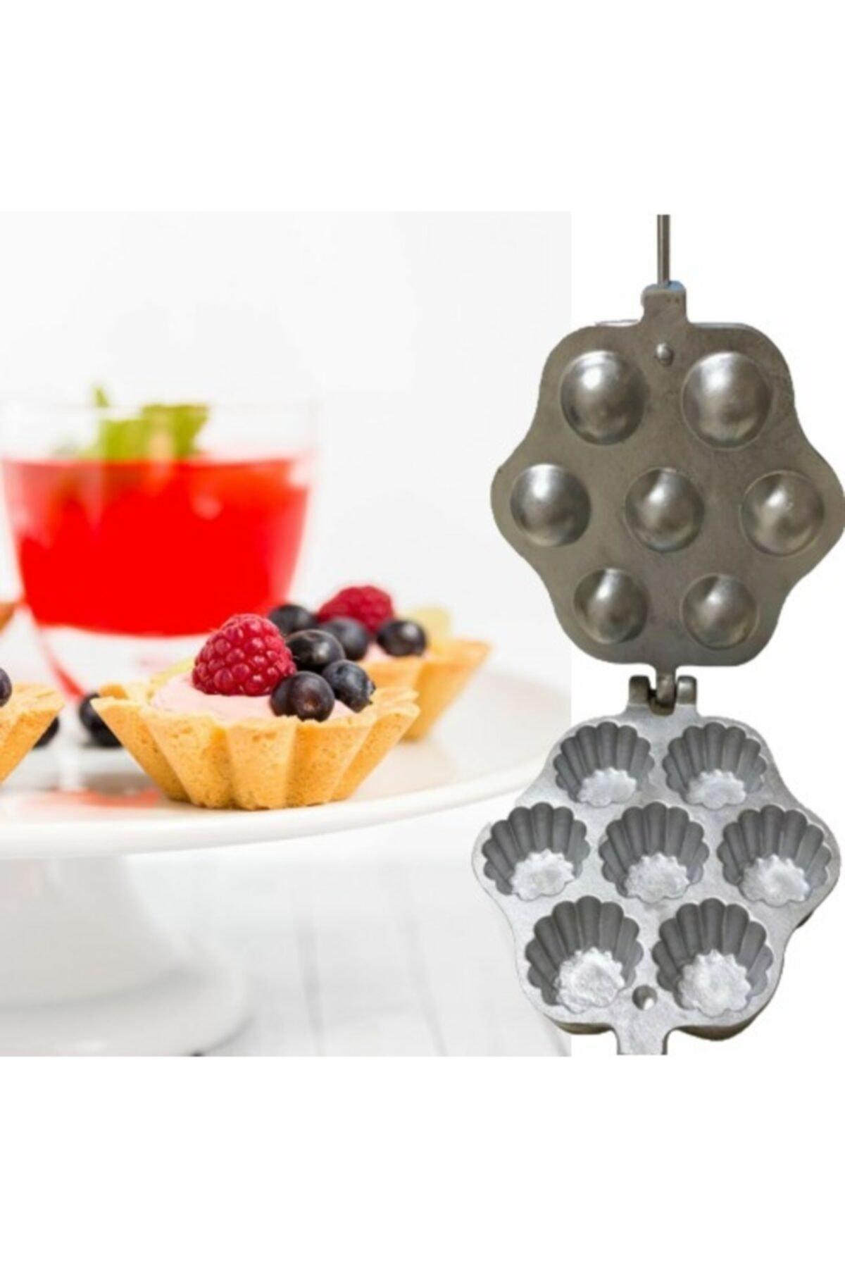 NK Pasta Malzemeleri Ocak Üstü Döküm 7'li Tartolet-kurabiye Kalıbı 1