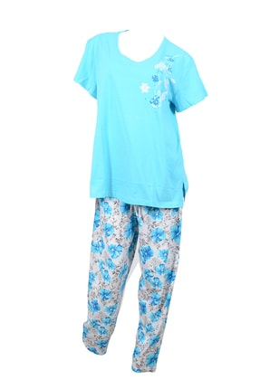 Kompedan Good Look 8101886730 Bayan Battal Kısa Kol Pijama Tk.
