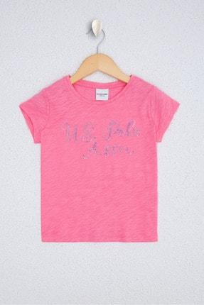 U.S. Polo Assn. Pembe Kız Çocuk T-Shirt