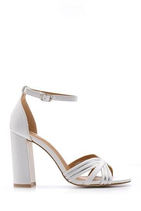 Derimod Kadın Beyaz Kalın Topuklu Ayakkabı
