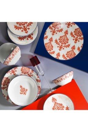 Kütahya Porselen Zeugma 24 Parça Yemek Takımı 10733 Kırmızı