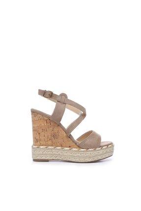KEMAL TANCA Bej Kadın Vegan Sandalet Sandalet 575 Y1632 BN SNDLT
