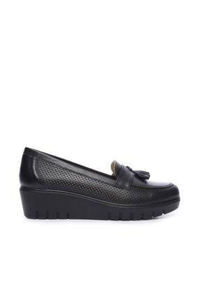 KEMAL TANCA Hakiki Deri Siyah Kadın Comfort Ayakkabı 211 7278 BN AYK