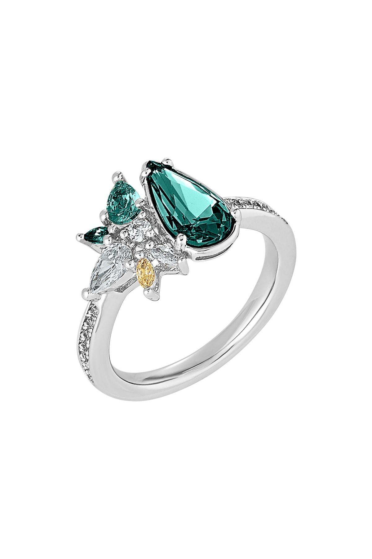 Swarovski Yüzük Botanical-ring Ring C Emrd-rhs 55 5535820 1
