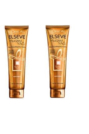 ELSEVE Loreal Mucizevi Yağ Saç Güzelleştirici Krem Tüm Saç 150 ml x 2 Adet 3600523036342