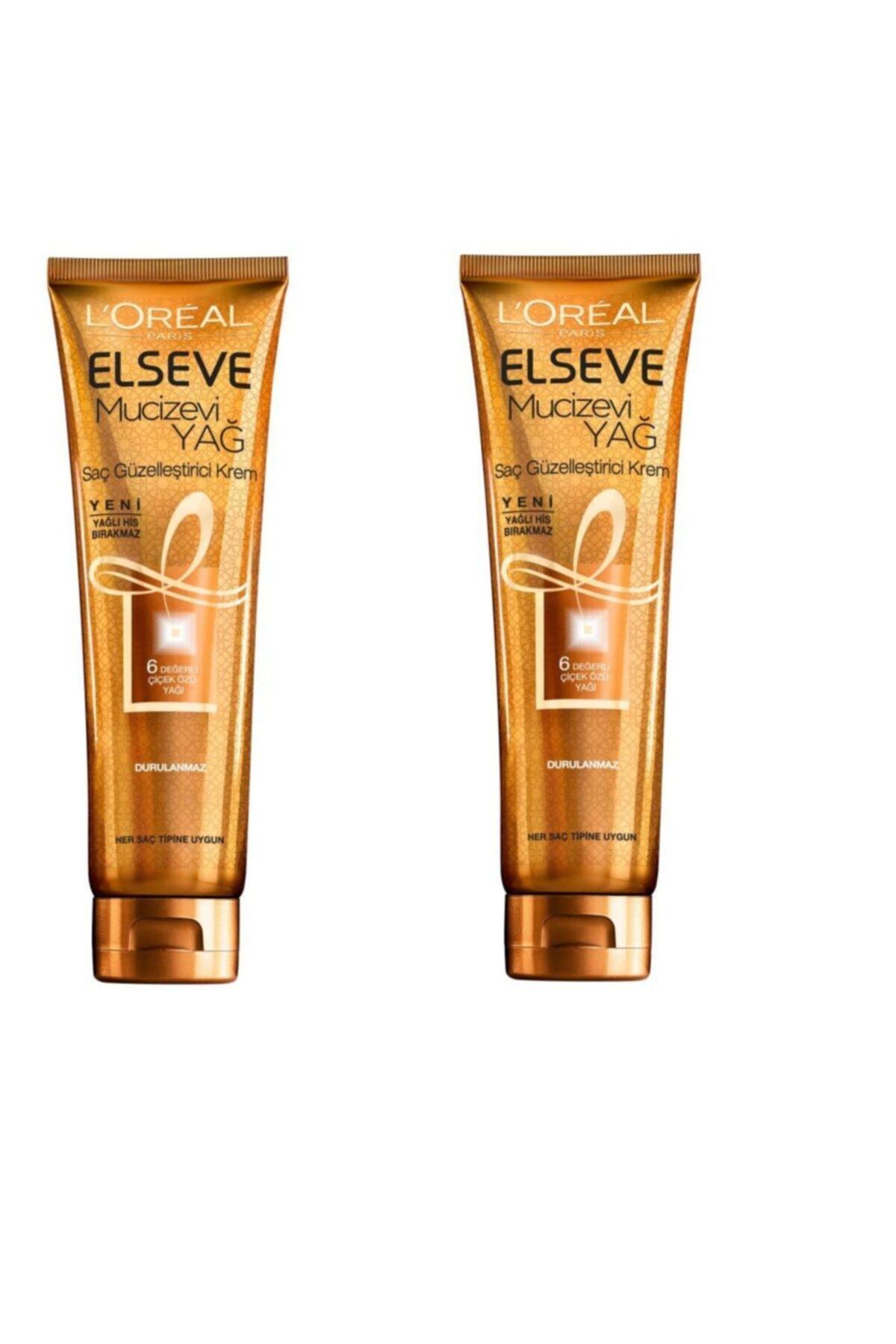 ELSEVE Loreal Mucizevi Yağ Saç Güzelleştirici Krem Tüm Saç 150 ml x 2 Adet 3600523036342 1