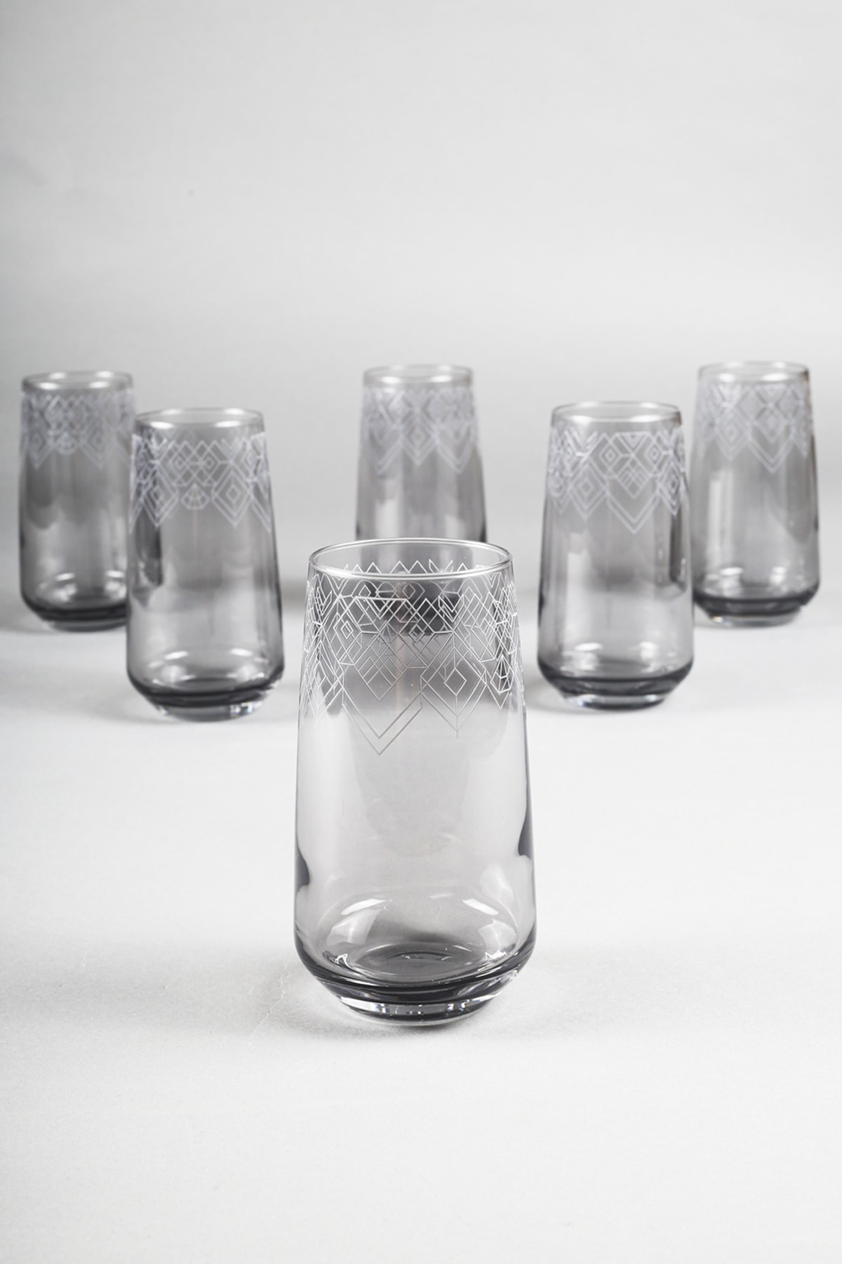 Rakle Grace Füme 6'lı Meşrubat Bardağı Seti 470 Cc 1