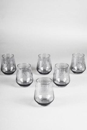 Rakle Grace Füme 6'lı Su Bardağı Seti 425 Cc