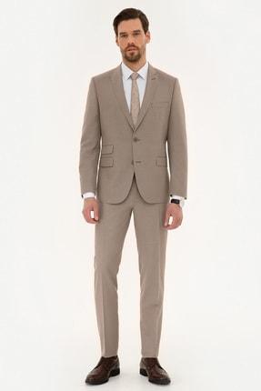 Pierre Cardin Erkek Kum Ekstra Slim Fit Takım Elbise