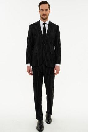 Pierre Cardin Erkek Siyah Slim Fit Takım Elbise