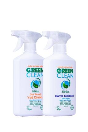 Green Clean Bitkisel Yağ Çözücü 500 ml.+ Banyo Temizleyici 500 ml. 2' li Set