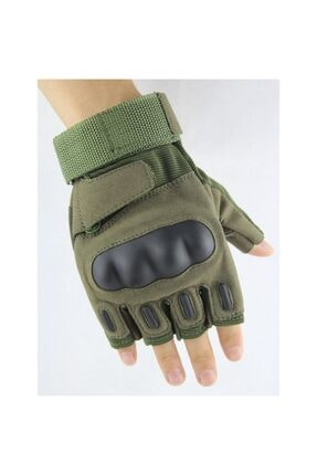 REEBOW TACTICAL Tactical Askeri Kesik Parmak Kemik Eldiven Operasyon Eldiveni Haki