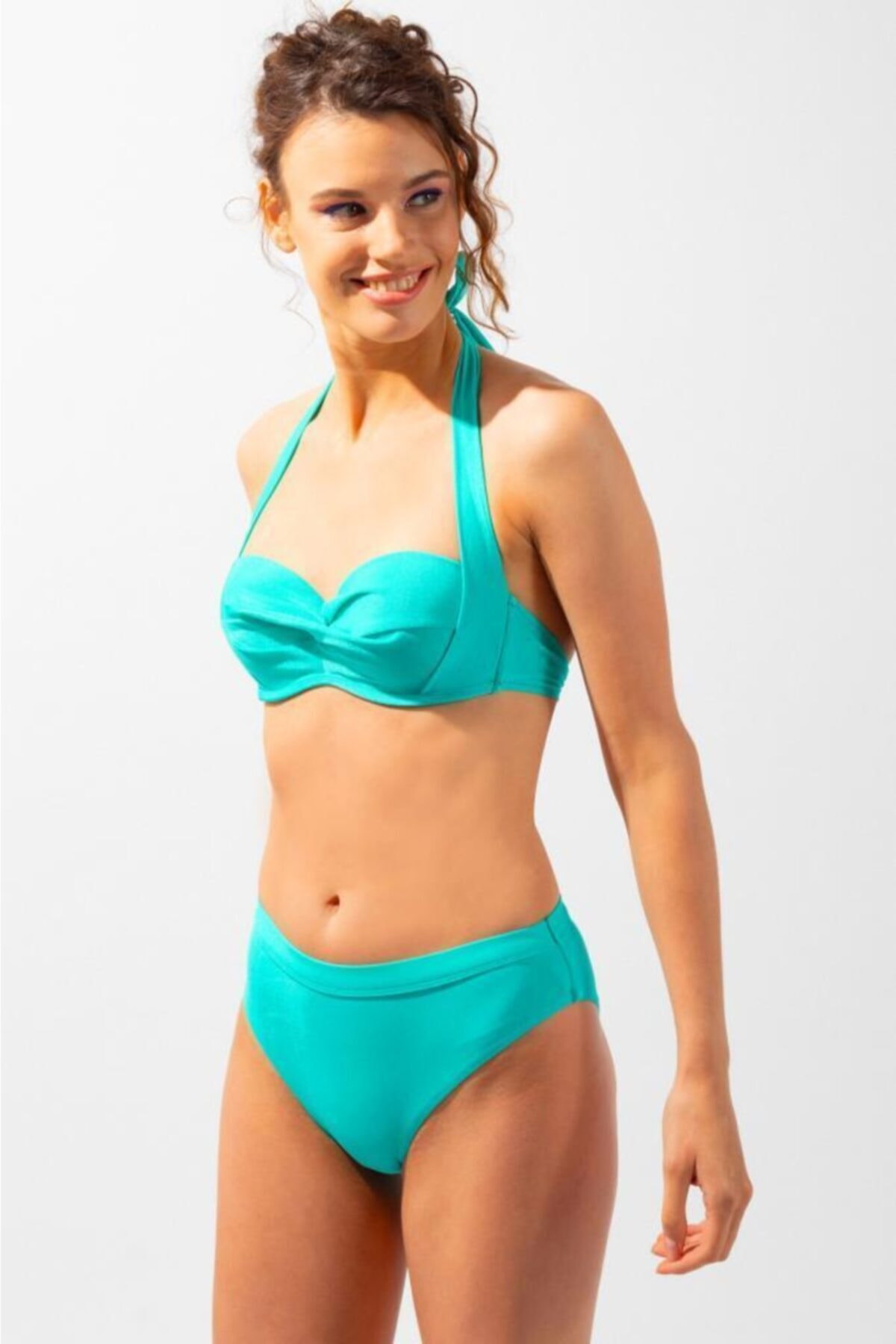 Katia&Bony Teal Tales Düz Ip Askılı Kadın Bikini-yeşil 1