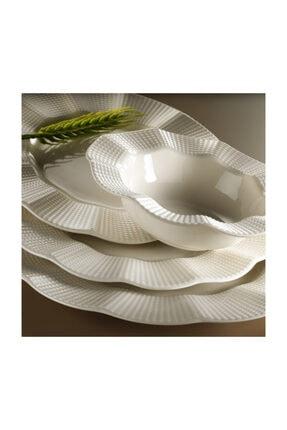 Kütahya Porselen Milena Krem Porselen 24 Parça Yemek Takımı
