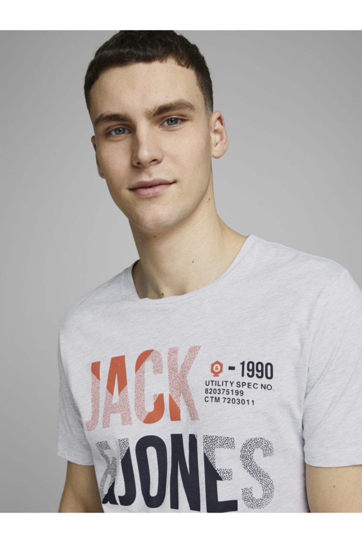 Jack & Jones Tişört Foke Crew Neck 12172215-WHT 2