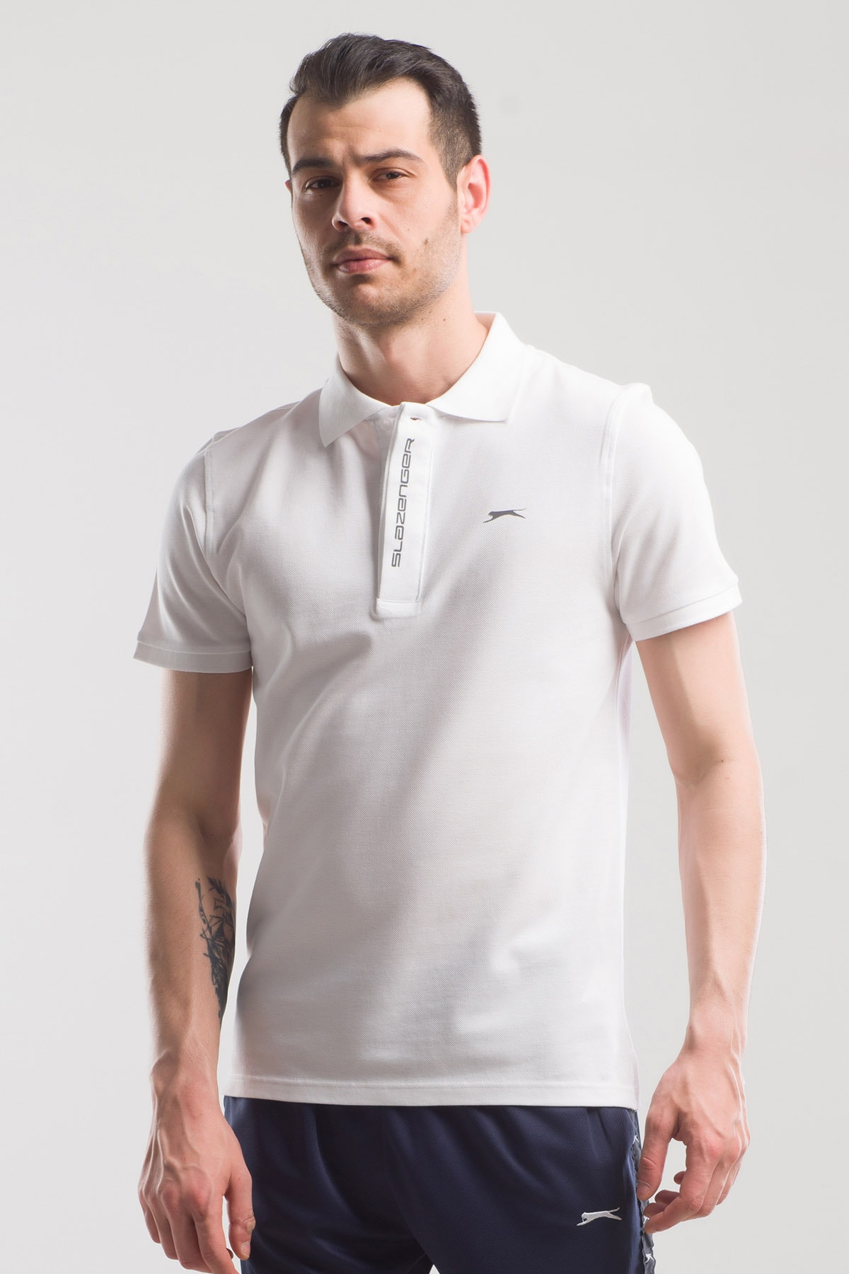 Slazenger Platon Erkek T-shirt Beyaz 1