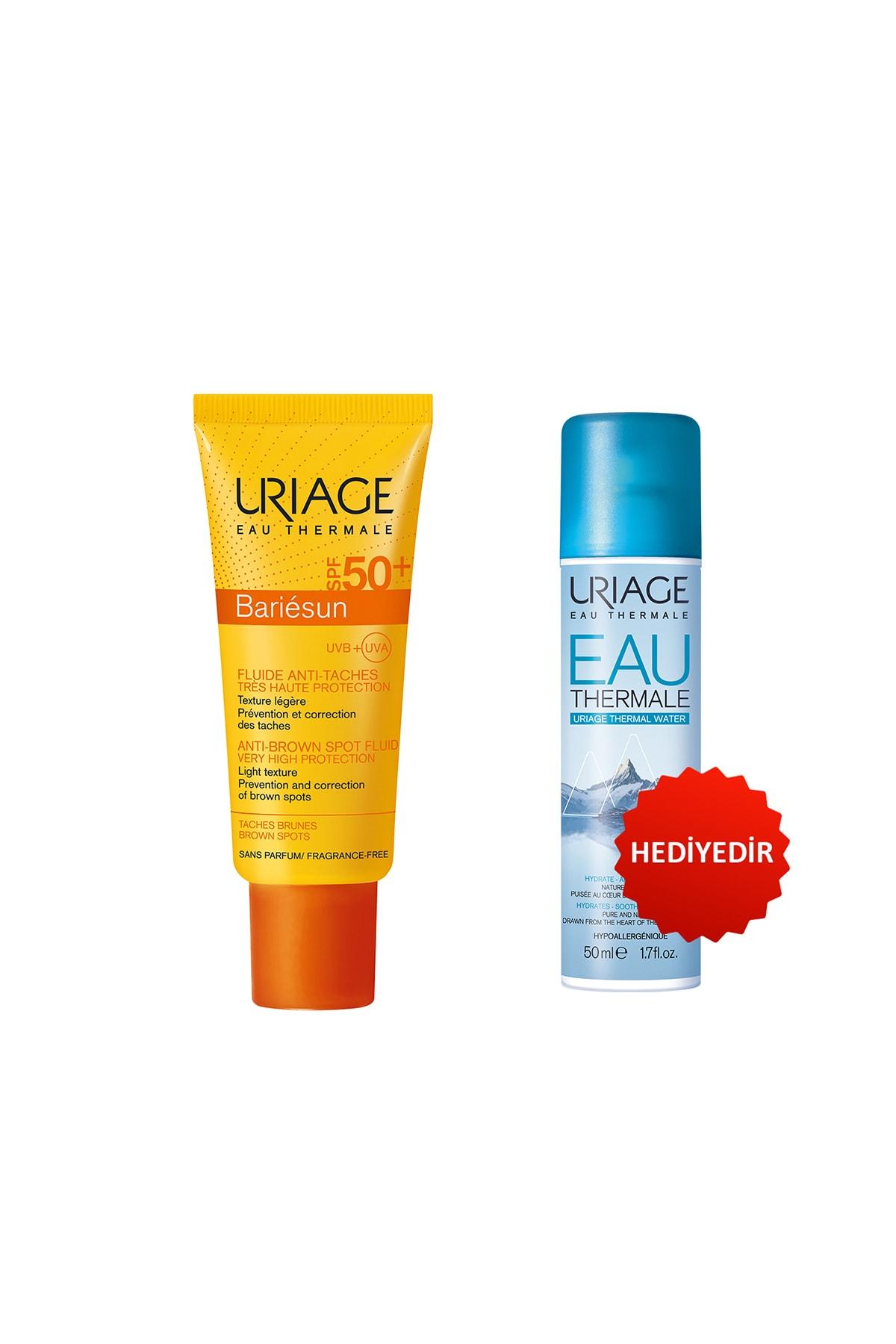 Uriage Bariésun Anti Brown Spot Fluid Spf 50 (Leke Giderici Güneş Kremi) + Eau Thermale D Uriage Sp 50 ml
