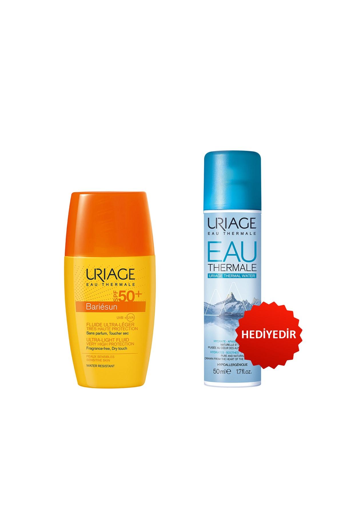 Uriage Bariésun Spf50+ Fluid Ultra 30 ml & Thermale Water (Güneş Koruyucu) + Eau Thermale D Uriage Sp 50 ml