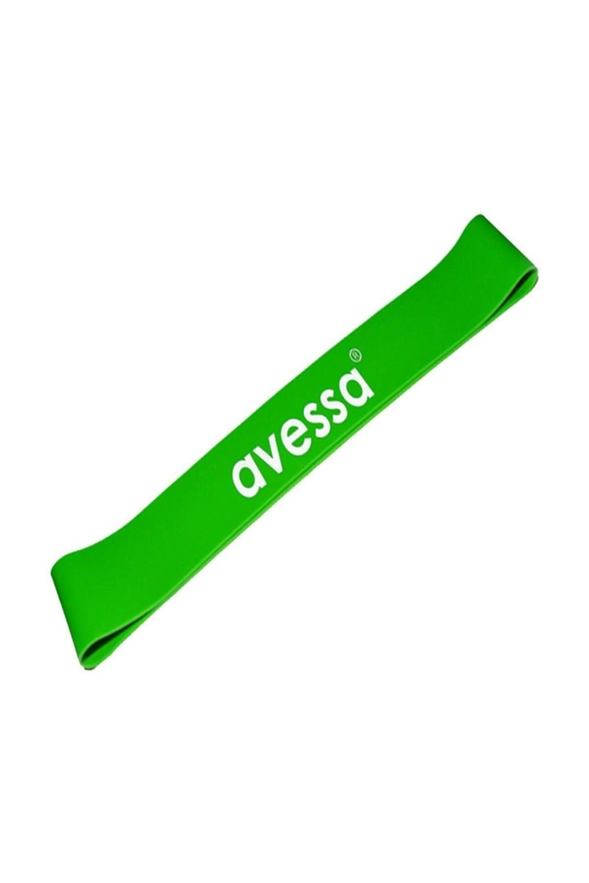 AVESSA Latex Aerobik Band Orta Sertlik Yeşil Renk Lab 200 1