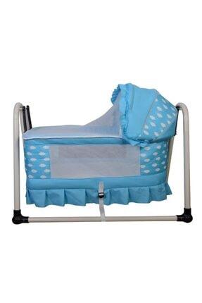 Nenny Baby Anne Yanı Lüks Sepet Beşik Mavi