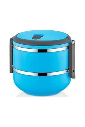 METROPOLAVM Freshbox Sefer Tası Saklama Kabı 2 Katlı Yemek Termosu Mavi 1,50 Lt