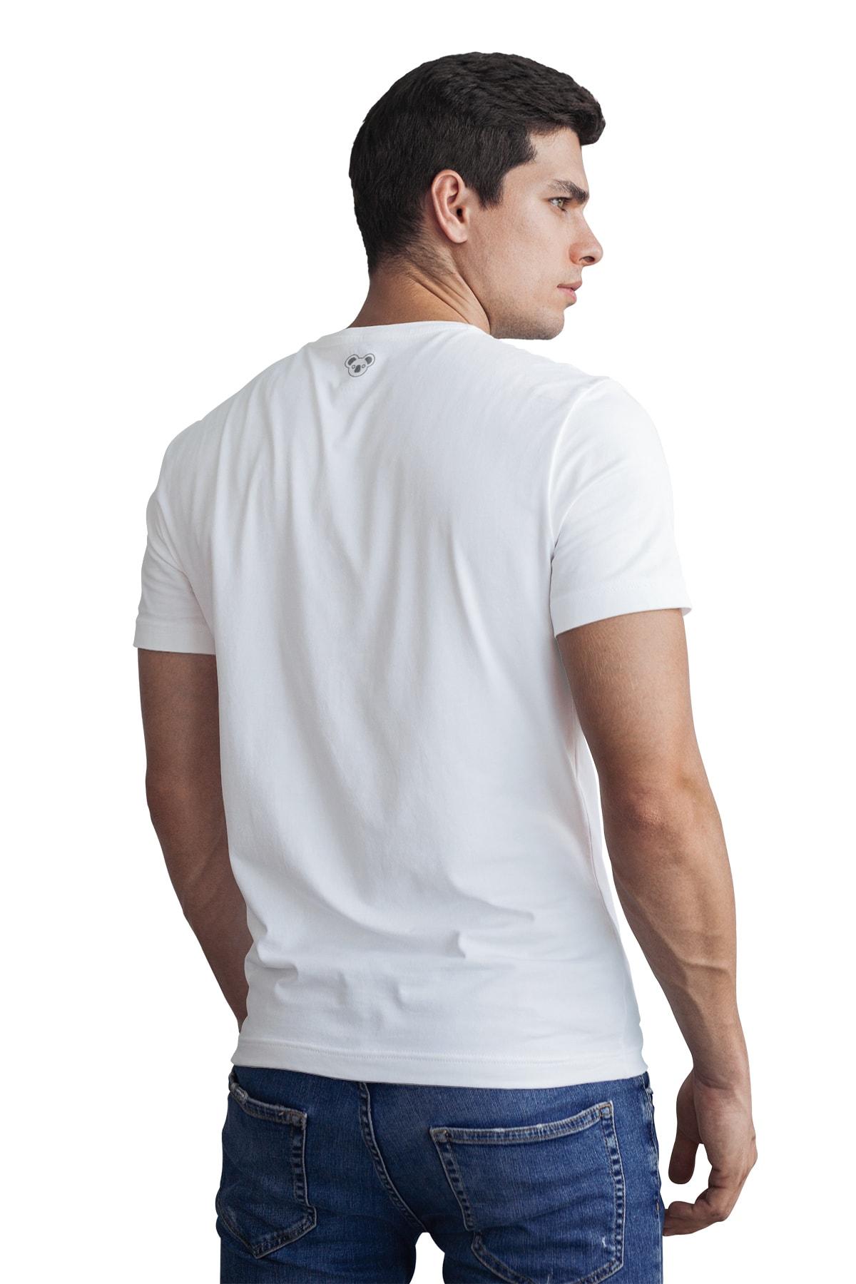 Koala Erkek Beyaz T-Shirt GET001BGRAMMO 2