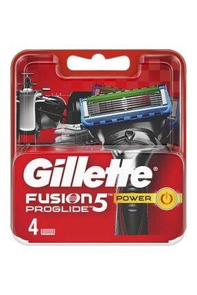 Gillette Fusion5 Proglide Power Yedek Tıraş Bıçağı 4'lü