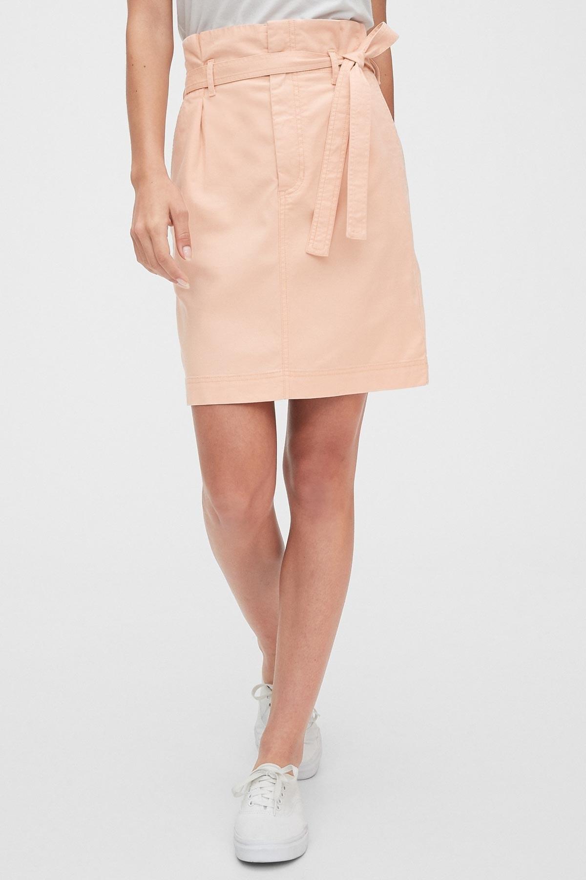 GAP Kadın TENCEL™ Paperbag Mini Etek 542519 1