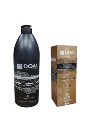 DOAL Keratin Şampuanı 200 ml + Keratin Bakım Sütü 1000 ml