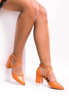 Ataköy Ayakkabı Kadın Oranje Topuklu Ayakkabı