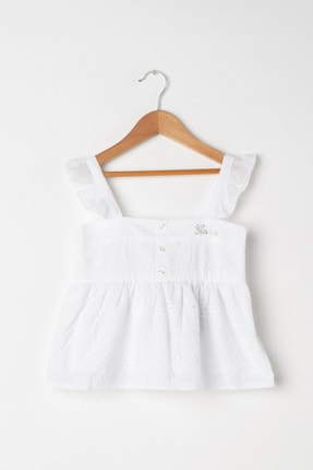 Guess Kız Çocuk Beyaz Bluz J92H01