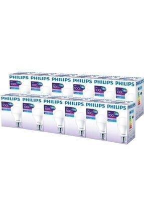 Philips Essential 14-100w E27 Normal Duy Ampul Beyaz Işık 12 Adet