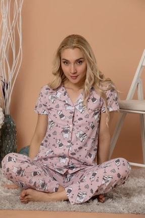 STRAWBERRY Düğmeli Kısa Kol Pijama Takım