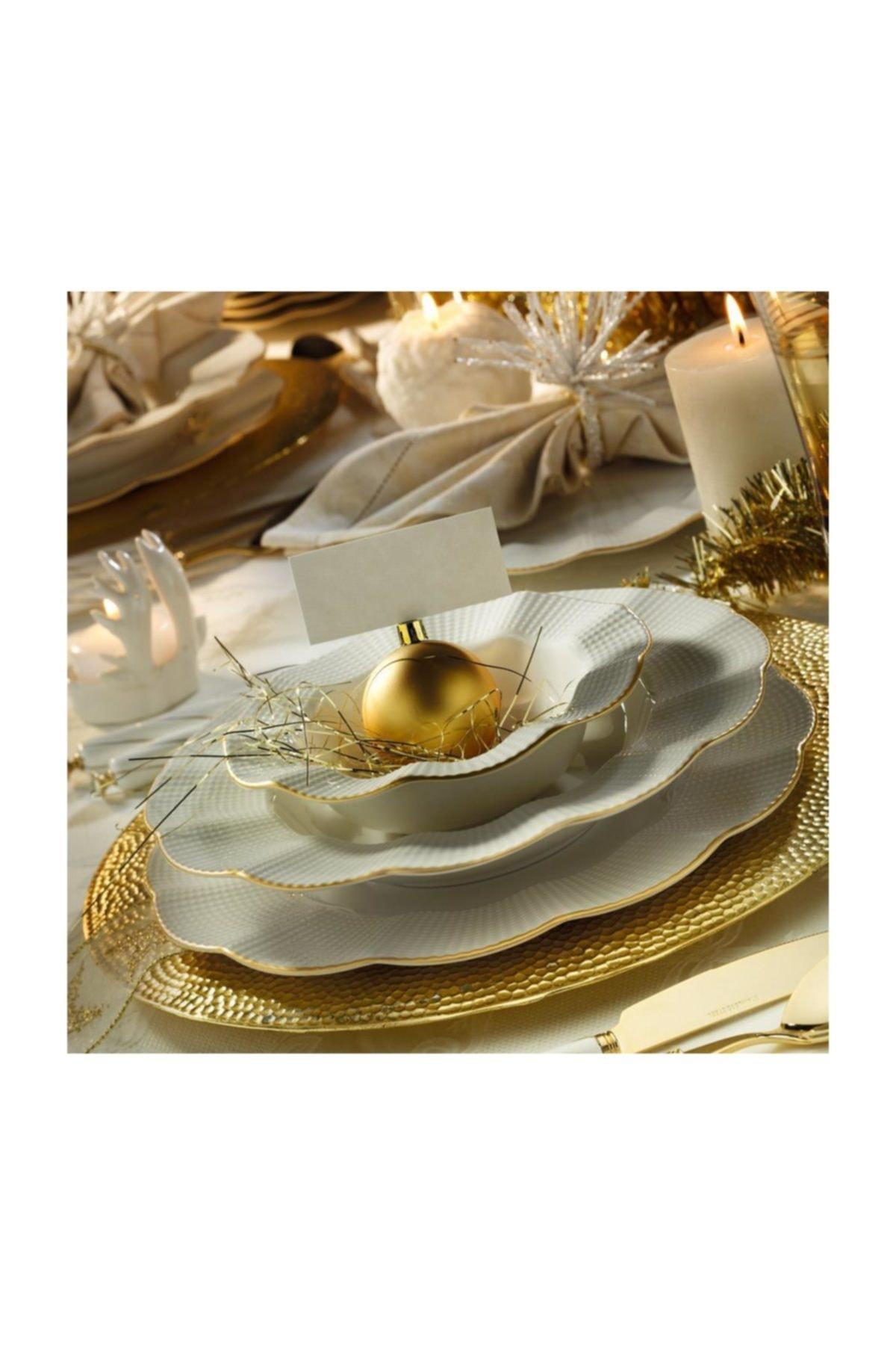 Kütahya Porselen Milena Krem Fileli 83 Parça Yemek Takımı 1