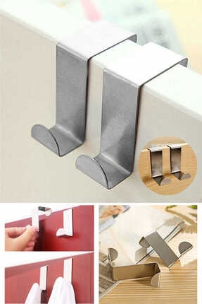 Keyfi Sepet 4'lü Metal Kapı Arkası Askılık