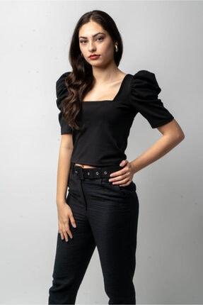 CNS Kadın Karpuz Kol Crop Bluz