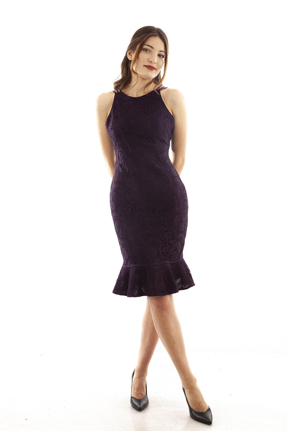 Ardanewline Kadın Mor Elbise 130136-10 1