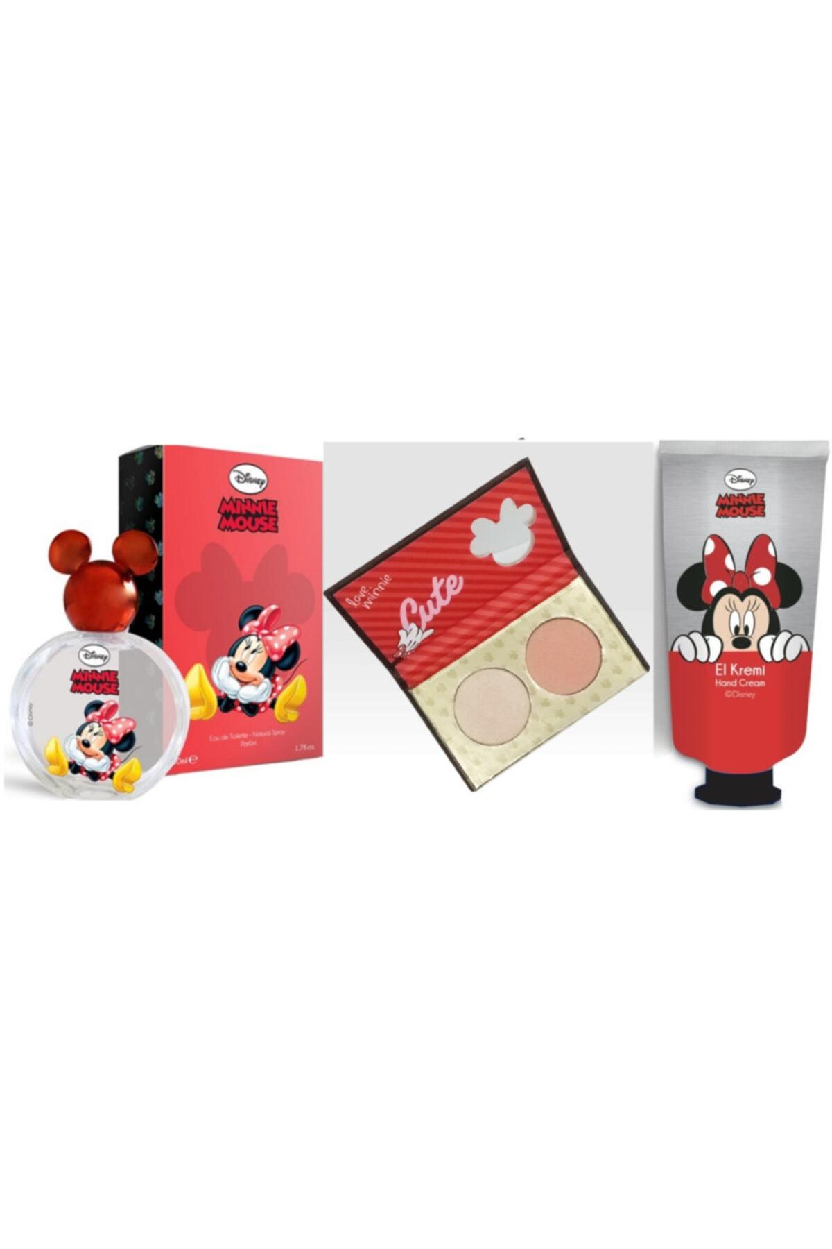 DISNEY Mınnıe Mouse Parfüm 50 ml  Hıghlıghter El Kremi Set 1