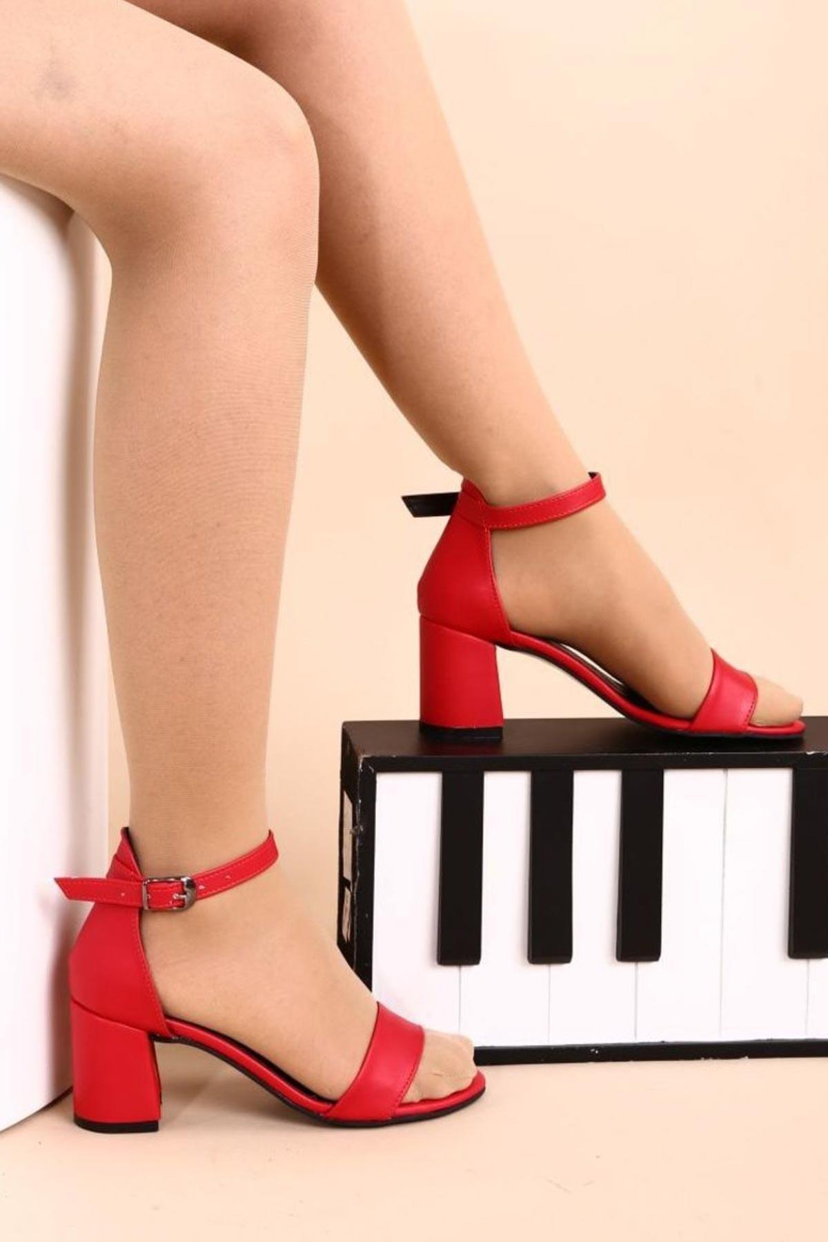Hepfit Kırmızı Kadın Topuklu Ayakkabı 2013-05-1604 1
